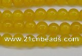 CAG7101 15.5 inches 6mm round yellow agate gemstone beads