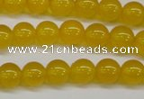 CAG7102 15.5 inches 8mm round yellow agate gemstone beads