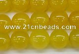 CAG7105 15.5 inches 14mm round yellow agate gemstone beads