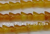 CAG7118 15.5 inches 9*11mm vase-shaped yellow agate gemstone beads