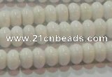 CAG7191 15.5 inches 5*8mm rondelle white agate gemstone beads