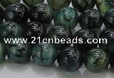 CAG7323 15.5 inches 10mm round dragon veins agate beads wholesale
