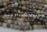 CAG734 15.5 inches 4mm round botswana agate beads wholesale