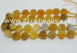 CAG7356 15.5 inches 18*20mm - 20*22mm octagonal dragon veins agate beads