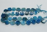 CAG7359 15.5 inches 18*20mm - 20*22mm octagonal dragon veins agate beads