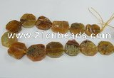 CAG7412 15.5 inches 25*27mm - 30*32mm freeform dragon veins agate beads