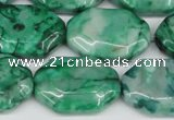 CAG7439 15.5 inches 20*30mm octagonal crazy lace agate beads