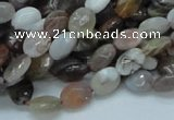 CAG753 15.5 inches 6*8mm faceted oval botswana agate beads