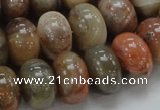 CAG771 15.5 inches 12*18mm rondelle yellow agate gemstone beads