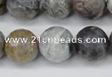 CAG7873 15.5 inches 20mm faceted round silver needle agate beads