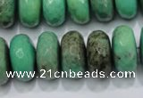 CAG7890 15.5 inches 13*18mm faceted rondelle grass agate beads
