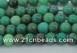 CAG7904 15.5 inches 6mm round grass agate beads wholesale