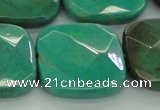 CAG7919 15.5 inches 35*35mm faceted square grass agate beads