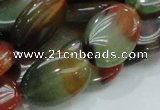 CAG796 15.5 inches 18*25mm oval rainbow agate gemstone beads