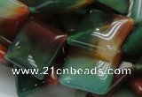 CAG804 15.5 inches 20*20mm diamond rainbow agate gemstone beads