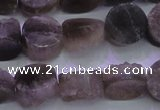 CAG8431 15.5 inches 12mm coin grey druzy agate gemstone beads