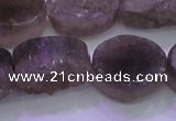 CAG8445 15.5 inches 18*25mm oval grey druzy agate gemstone beads
