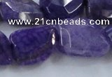 CAG8501 15.5 inches 15*20mm - 18*25mm freeform dragon veins agate beads