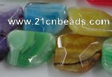 CAG8506 15.5 inches 15*20mm - 18*25mm freeform dragon veins agate beads