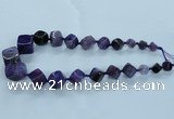 CAG8523 15.5 inches 9*10mm - 23*24mm cube dragon veins agate beads