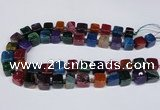 CAG8558 15.5 inches 12*14mm - 14*15mm nuggets dragon veins agate beads
