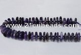 CAG8560 6*22mm - 10*26mm tyre dragon veins agate beads wholesale