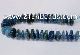 CAG8563 6*22mm - 10*26mm tyre dragon veins agate beads wholesale