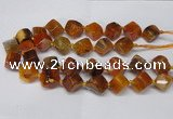 CAG8572 15.5 inches 15*16mm - 17*18mm cube dragon veins agate beads