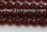 CAG8591 15.5 inches 8mm faceted round red agate gemstone beads