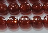 CAG8593 15.5 inches 12mm faceted round red agate gemstone beads