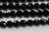 CAG8610 15.5 inches 6mm faceted round black agate gemstone beads