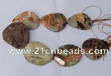 CAG8641 15.5 inches 45*50mm - 50*55mm freeform ocean agate beads