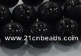CAG8688 15.5 inches 12mm round matte tibetan agate gemstone beads