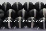 CAG8691 15.5 inches 8mm round matte tibetan agate gemstone beads