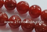 CAG870 15.5 inches 18mm faceted round agate gemstone beads