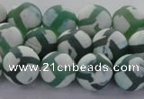 CAG8722 15.5 inches 10mm round matte tibetan agate gemstone beads