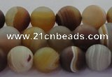 CAG8726 15.5 inches 8mm round matte madagascar agate beads