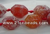 CAG9065 15.5 inches 15*20mm nuggets fire crackle agate beads