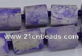 CAG9076 15.5 inches 15*17mm - 15*20mm tube dragon veins agate beads
