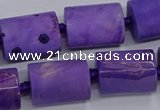 CAG9077 15.5 inches 15*17mm - 15*20mm tube dragon veins agate beads
