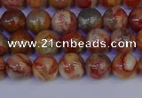CAG9100 15.5 inches 4mm round red crazy lace agate beads