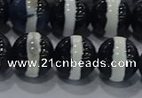 CAG9135 15.5 inches 12mm round tibetan agate beads wholesale