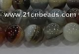 CAG9150 15.5 inches 10mm round line agate beads wholesale