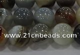 CAG9151 15.5 inches 12mm round line agate beads wholesale