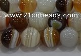 CAG9157 15.5 inches 10mm round line agate beads wholesale
