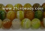 CAG9164 15.5 inches 8mm round line agate beads wholesale