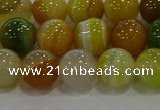 CAG9165 15.5 inches 10mm round line agate beads wholesale