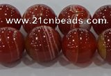 CAG9181 15.5 inches 14mm round line agate beads wholesale