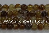 CAG9192 15.5 inches 4mm round line agate gemstone beads