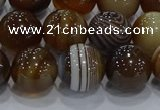 CAG9196 15.5 inches 12mm round line agate gemstone beads